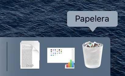 Papelera del Mac